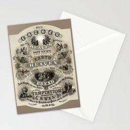 The Lords Prayer - Vintage Christian Art Stationery Cards