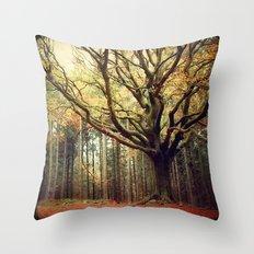 Hêtre de Ponthus 02 - Legendary Trees of Brocéliande Throw Pillow