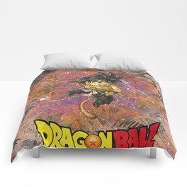 Dragon ball Kid Goku Manga Comic Anime Collage Superhero Comic Book Art Comforters
