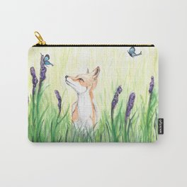 Fox with Butterflies Carry-All Pouch