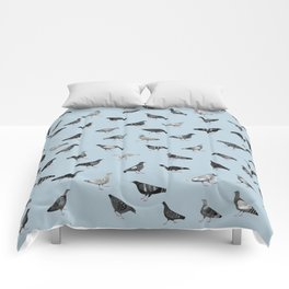 Pigeons Doing Pigeon Things Comforters