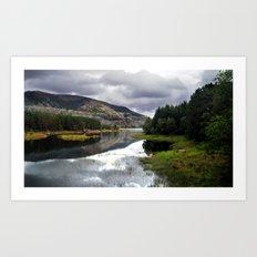 lakeside in norway. Art Print