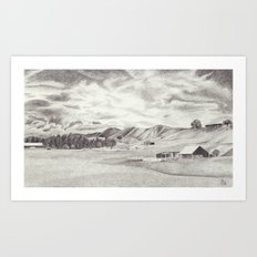 Out in the Hills Art Print