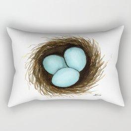 Robin Egg Nest Rectangular Pillow