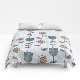 70s garden Comforters