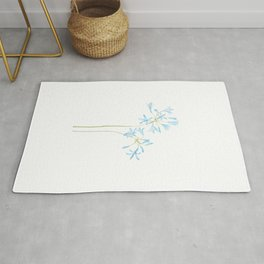 blue African lily watercolor  Rug