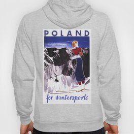 Poland for Winter Sports - Vintage Travel Hoody