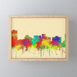 Arlington city skyline watercolor-2 Framed Mini Art Print