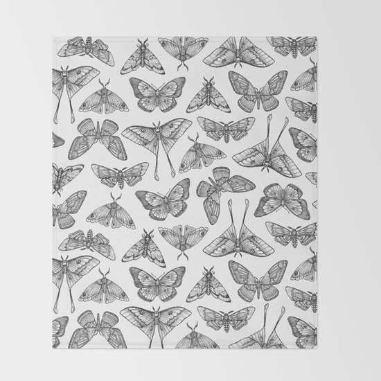 Lepidoptera Throw Blanket