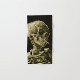 Skull of a Skeleton with Burning Cigarette by Vincent van Gogh Hand & Bath Towel