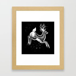 Running Deer Framed Art Print