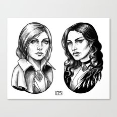 Yennefer and Triss Canvas Print