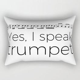 Do you speak trumpet? Rectangular Pillow