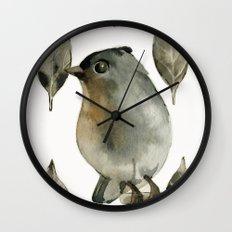 Grey Birdy Wall Clock