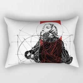 Red Lines. T. Golden Ratio. Baphomet. Yury Fadeev Rectangular Pillow