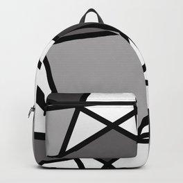 Triangels Geometric Lines dark grey  - grey - white Backpack