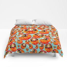 Lucky Daruma Comforters