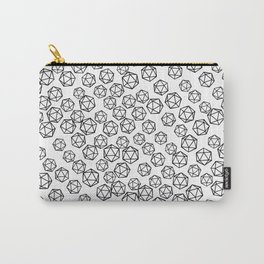 D20 Pattern - B&W Carry-All Pouch