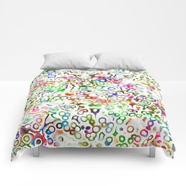 Abstract Microbes Comforters