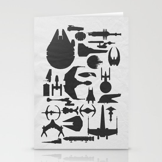 Famous Sci Fi Ships Stationery Cards
