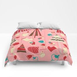 Vintage Christmas Pink Comforters