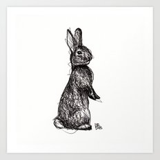 Woodland Creatures: Rabbit Art Print