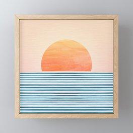 Morning in Paradise ~ Tropical Sunrise Framed Mini Art Print