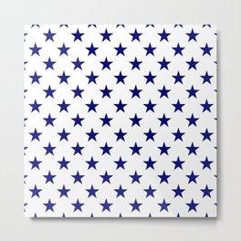 Stars Texture (Navy Blue & White) Metal Print