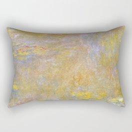 Sea-Roses (Yellow Nirwana) by Claude Monet Rectangular Pillow