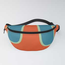 Abtract Burning Retro Wave Fanny Pack