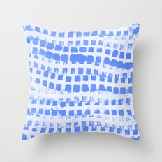 Abstract azure navy pattern Throw Pillow