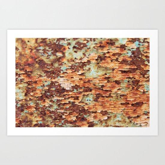 Colorful Grunge Abstract No.1 Art Print