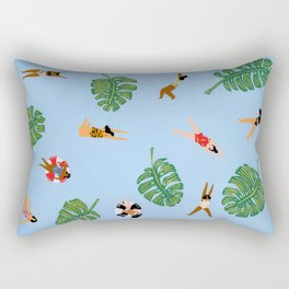 Floating in the sea Rectangular Pillow