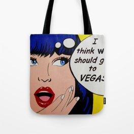 pop art  Las Vegas Tote Bag