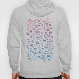 Cute & Sweet Monsters / Funny Clouds and Diamonds Hoody