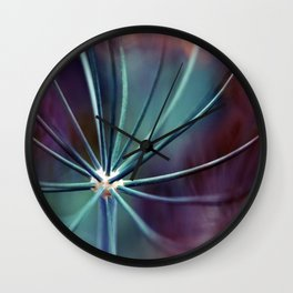 Garden Medusa. Botanical Macro Abstract Wall Clock
