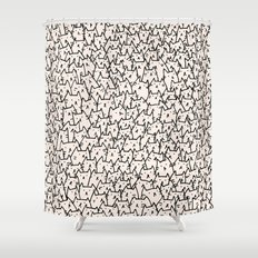 A Lot of Cats Shower Curtain