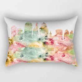 Cincinnati Ohio Skyline Rectangular Pillow