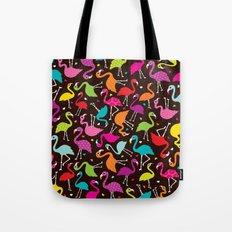 Brazil flamingo bird colorful retro pattern print Tote Bag
