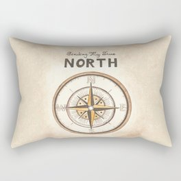 Finding My True North Rectangular Pillow