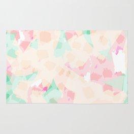 Ash - Soft Pastel  Abstract Digital Painting Rug