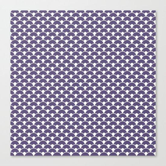 Dragon Scales Deep purple Canvas Print