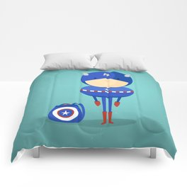 Captain A: My dreaming hero! Comforters