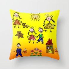 Children Collage Throw Pillow
