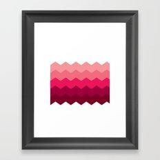 Chevron Pink Framed Art Print