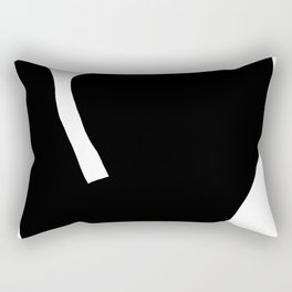 Nude silhouette figure - Nude black 001 Rectangular Pillow