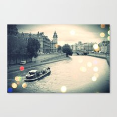 Floating gray Canvas Print