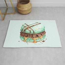 Mint Chocolate Macaron Cake Rug