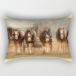 Six On The Hitch Rectangular Pillow