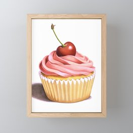 The Perfect Pink Cupcake Framed Mini Art Print